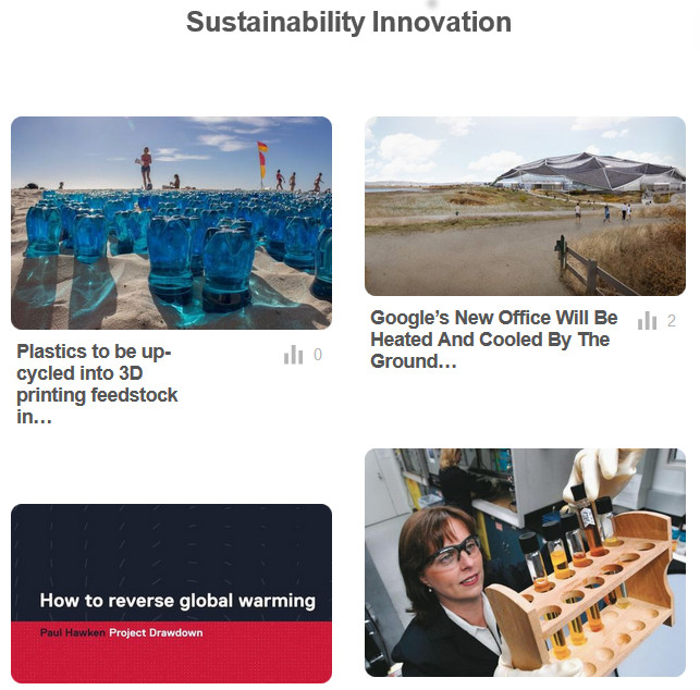 Sustainability Innovation on Pinterest