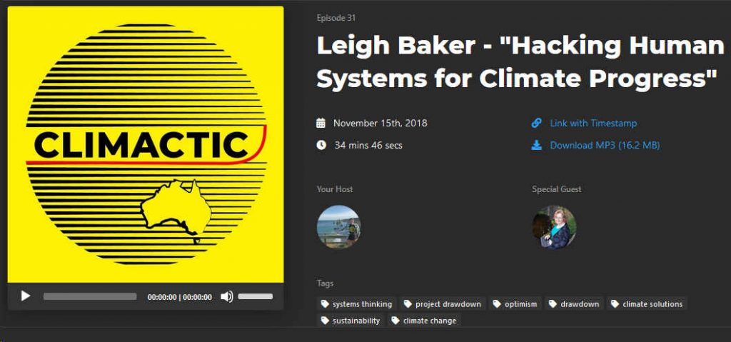 Hacking human systems for climate progress